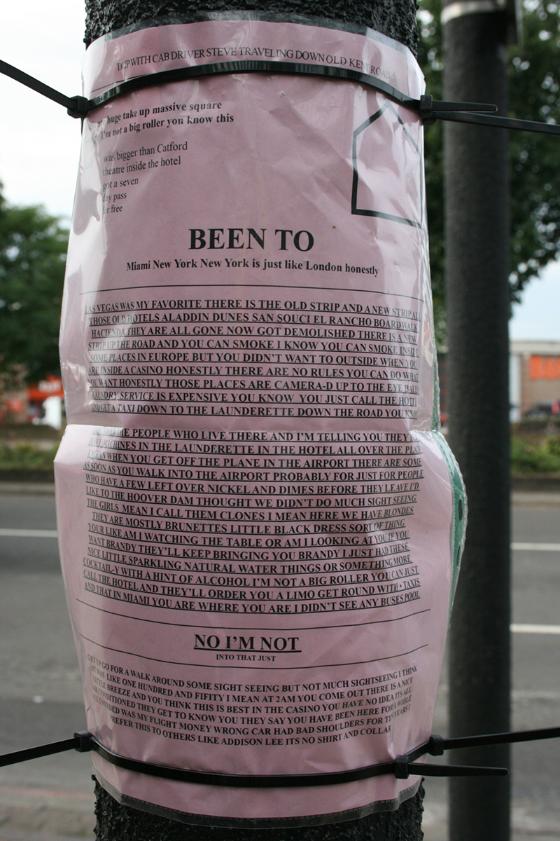 Fake Planning Notices (Old Kent Road), 2014, digital photograph